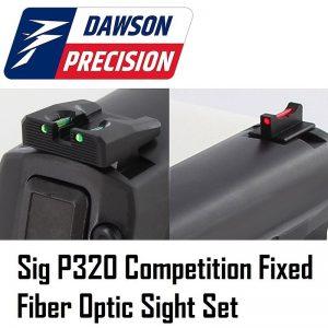 Dawson Precision Sig P320 Fiber Rear & Fiber Front